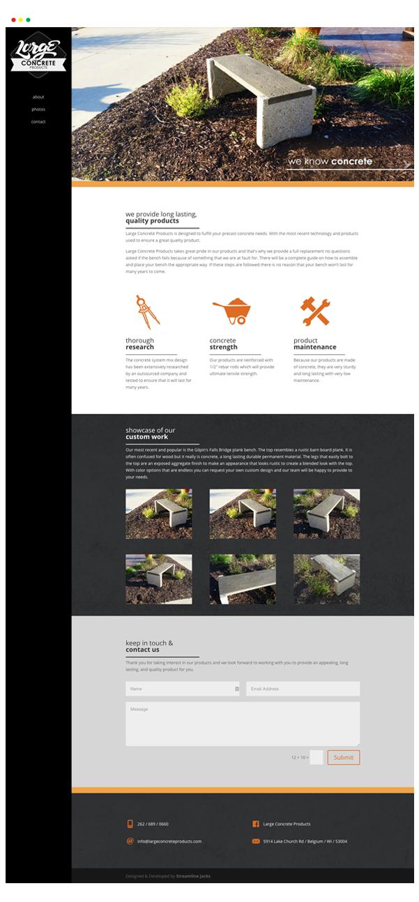 Large Concrete Website